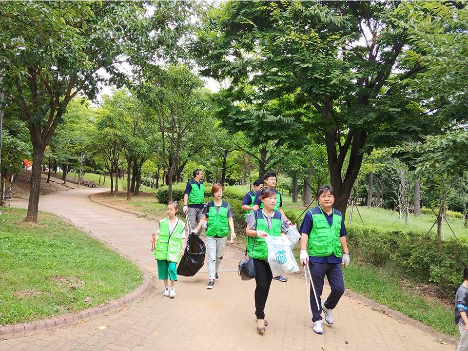 남동푸르미-중앙공원-환경정화활동