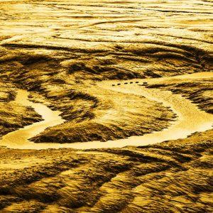 월곶포구 갯벌, 한반도 지형으로 변신