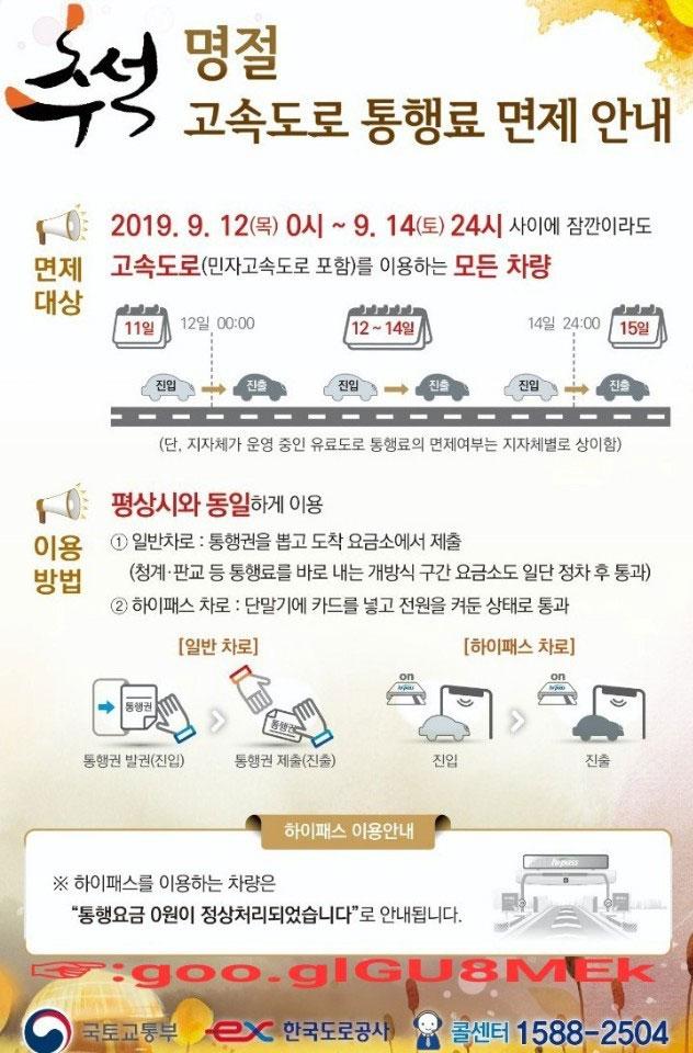 추석-고속도로-통행료-면제