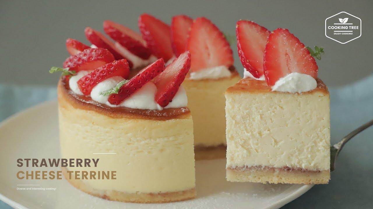 딸기 치즈 테린느 만들기 : Strawberry Cream Cheese Terrine Recipe | Cooking tree