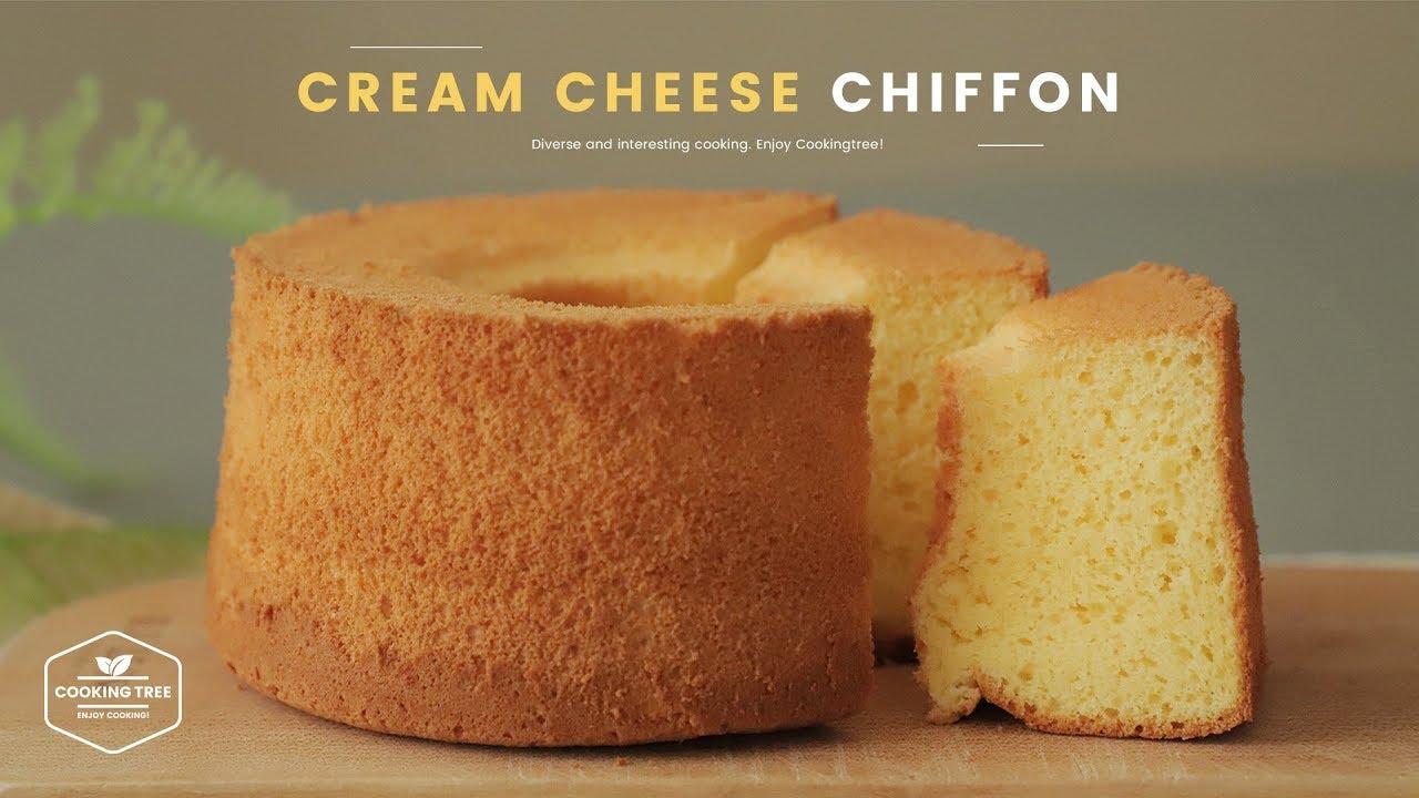 유튜브 요리 레시피 크림치즈 쉬폰케이크 만들기 : Cream Cheese Chiffon Cake Recipe | Cooking tree